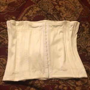 Flexees White Waist Cincher Corset Extra Large